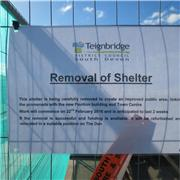 Deconstruction of Teignmouth sea front shelter, uhm!