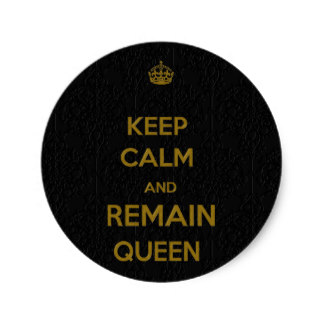 keep calm remain queen style 1 round sticker r1036db698a974cbc8d18116a4b2c43d0 v9waf 8byvr 324