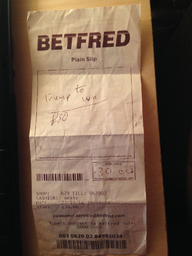 Bet on Trump for President