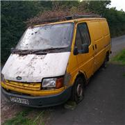 Dumped rusting van left at top of Badlake Hill and junction of Meadow Park